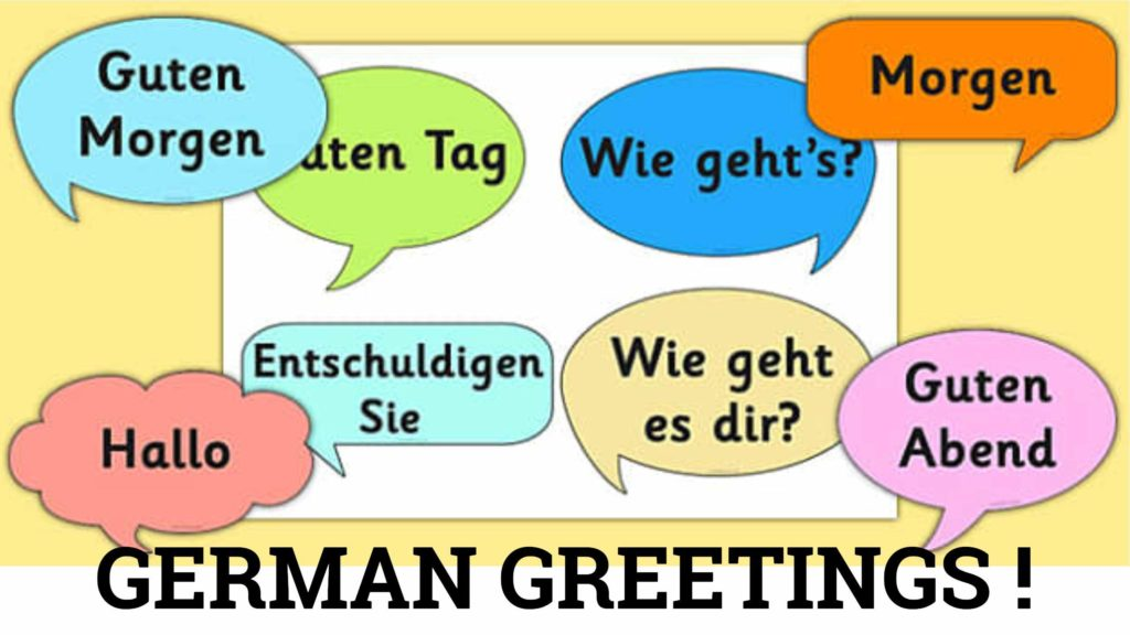 german greetings